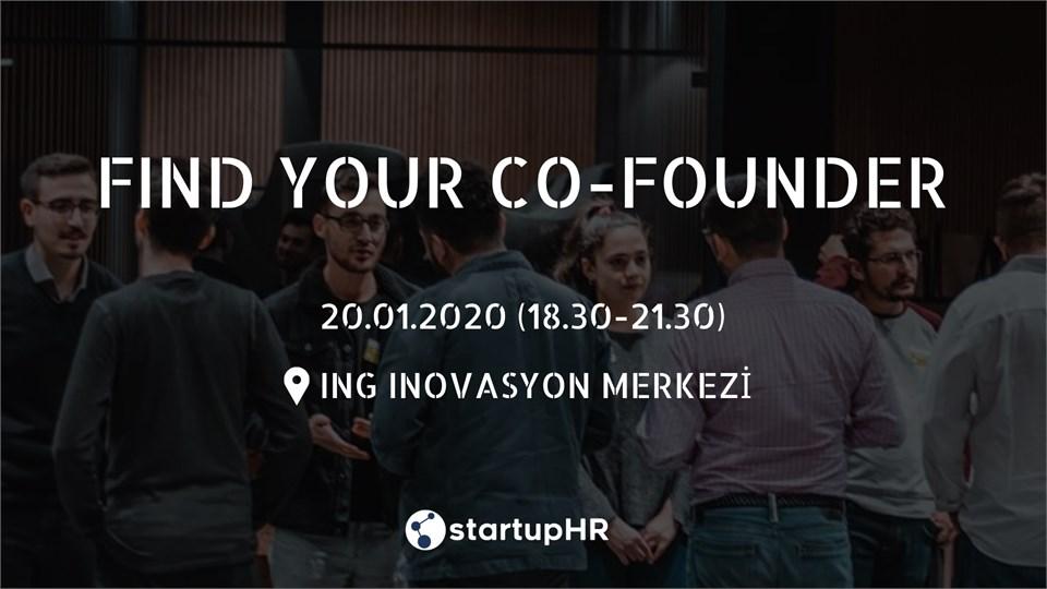 Find Your Co-Founder İstanbul #11 - 20 Ocak Pazartesi