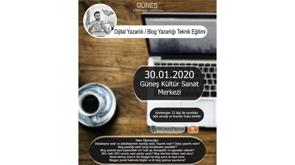 Dijital Yazarlık / Blog Yazarlığı Teknik Eğitimi