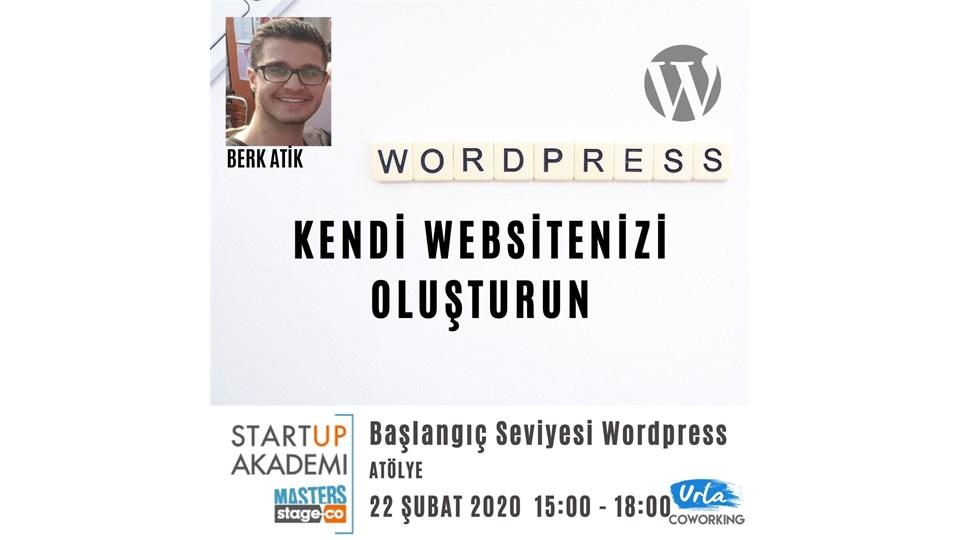 Kendi Websitenizi Oluşturun/Başlangıç Seviyesi Wordpress Atölyesi