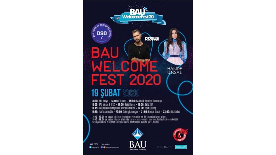 Bahçeşehir Üniversitesi Welcome Fest 2020