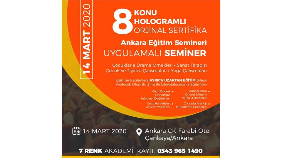 Ankara Eğitim Semineri 8 Sertifika