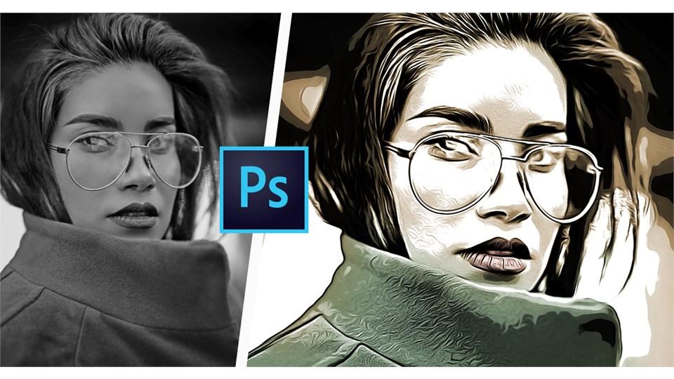 Online Photoshop Eğitimi (Fotoğrafı İllüstrasyona Çevirme)