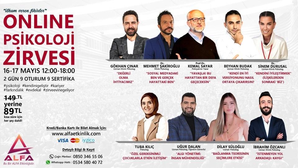 ONLINE PSİKOLOJİ ZİRVESİ / 16-17 MAYIS