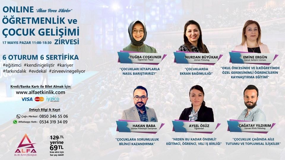 Online ÖĞRETMENLİK ve ÇOCUK GELİŞİMİ ZİRVESİ / 17 Mayıs