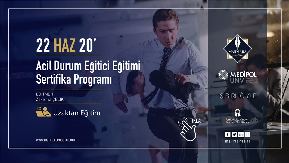 Acil Durum Eğitici Eğitimi Sertifika Programı