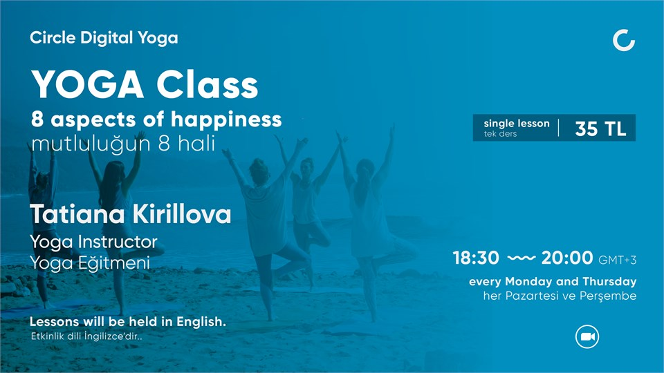 YOGA CLASS 8 aspects of happiness - Single Lesson