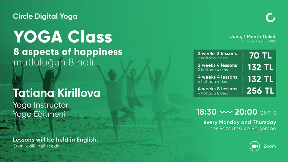 YOGA CLASS 8 aspects of happiness - June