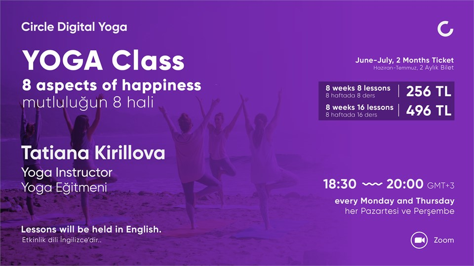 YOGA CLASS 8 aspects of happiness - June to July