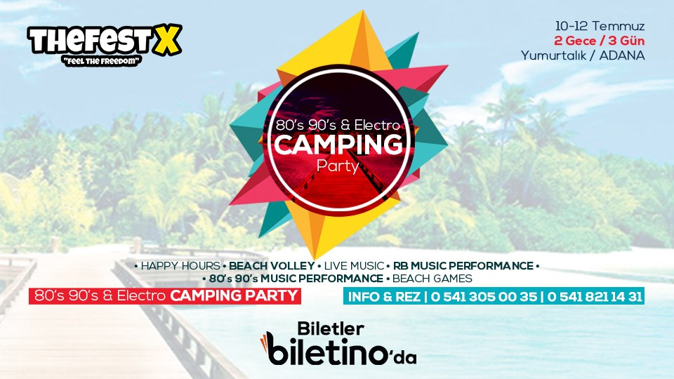 TheFestX - 80's 90's & Electro Camping Party