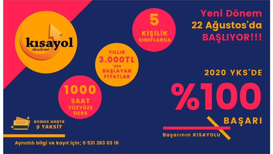 2020 - 2021 Eğitim Dönemi YKS Hazırlık ( TYT - AYT )
