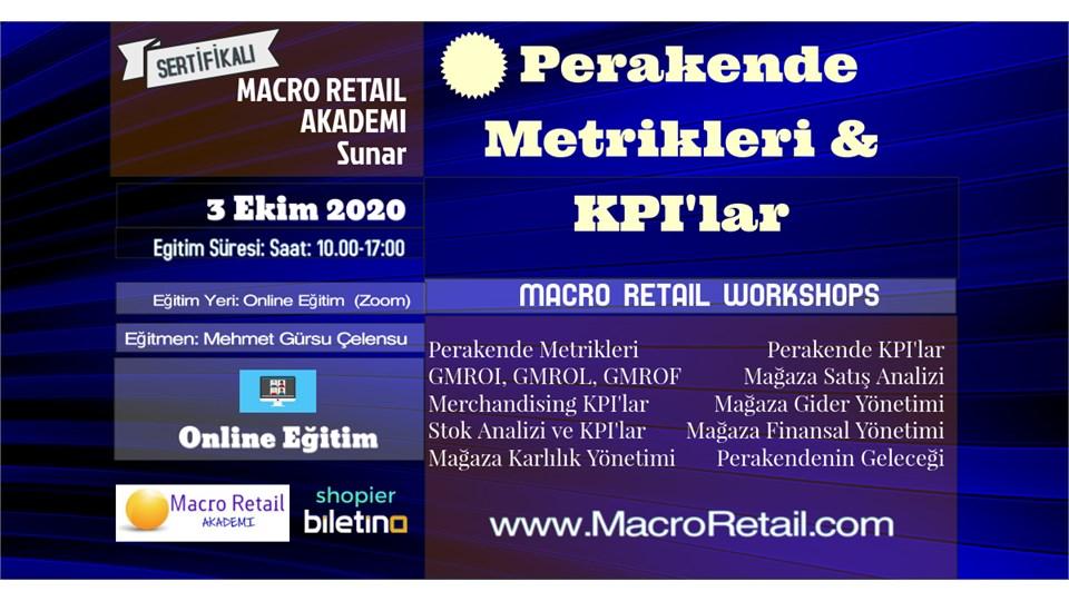 Perakende Metrikleri ve KPI'lar Eğitimi (Online-Canlı Eğitim)