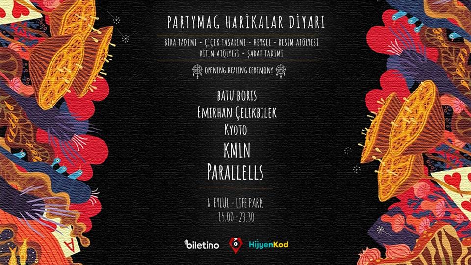 KMLN ve PARALLELLS Partymag Harikalar Diyari'nda