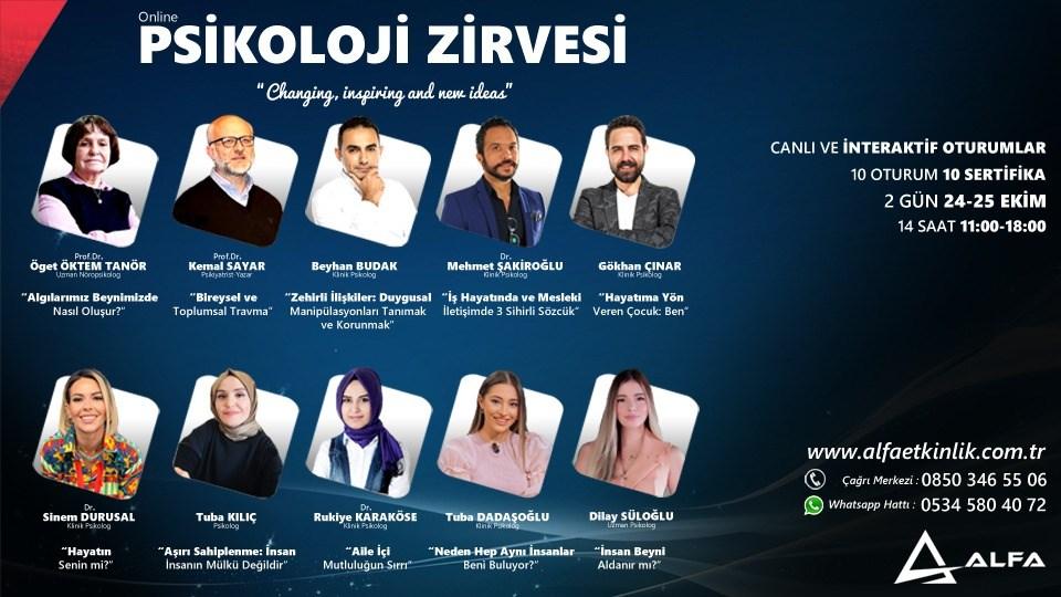 Online PSİKOLOJİ ZİRVESİ / 24-25 Ekim