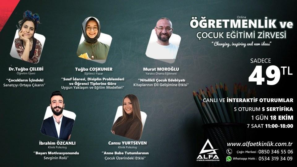 Online ÖĞRETMENLİK ve ÇOCUK EĞİTİMİ ZİRVESİ / 18 Ekim