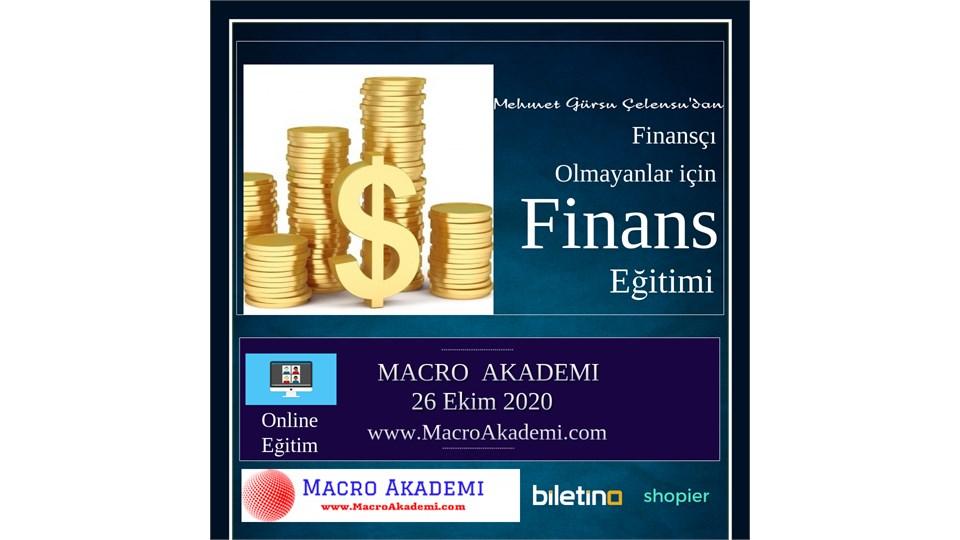Finansçı Olamayanlar için Finans Eğitimi (Online-Canlı Eğitim)