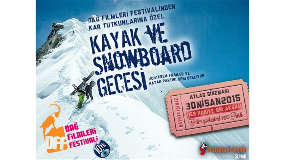Kayak ve Snowboard Gecesi Kombine Bilet - 30 Nisan 2015 Perşembe - 19:30