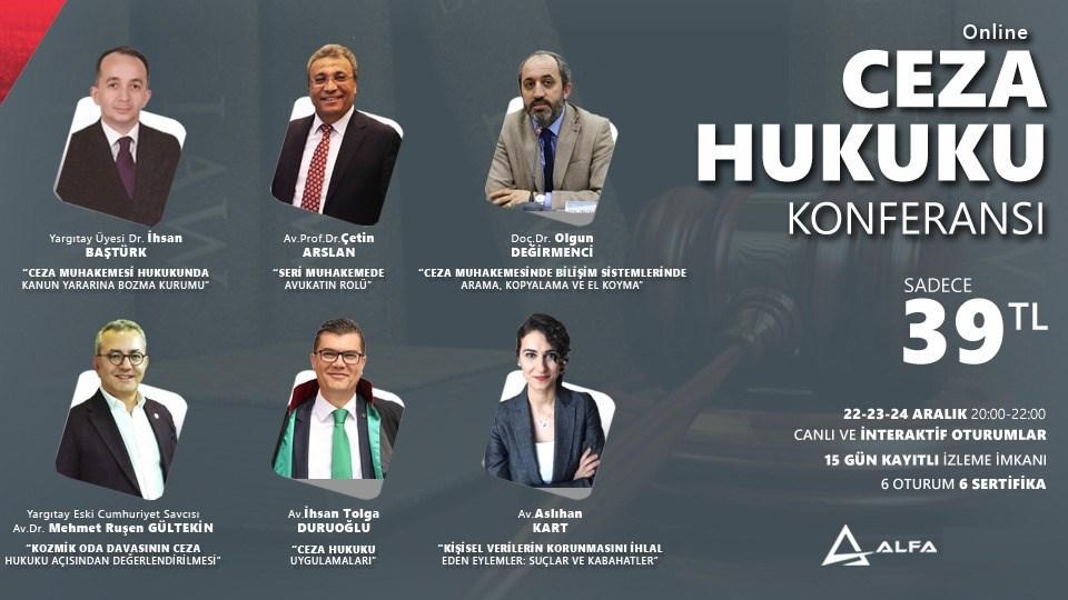 Online CEZA HUKUKU KONFERANSI / 22-23-24 Aralık