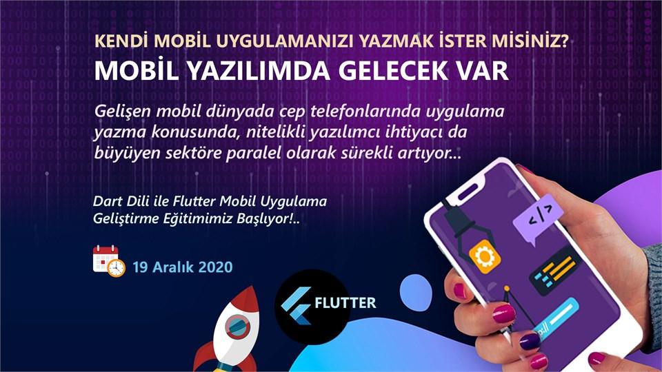 Online (Canlı) Flutter İle Mobil Uygulama Geliştirme Eğitimi