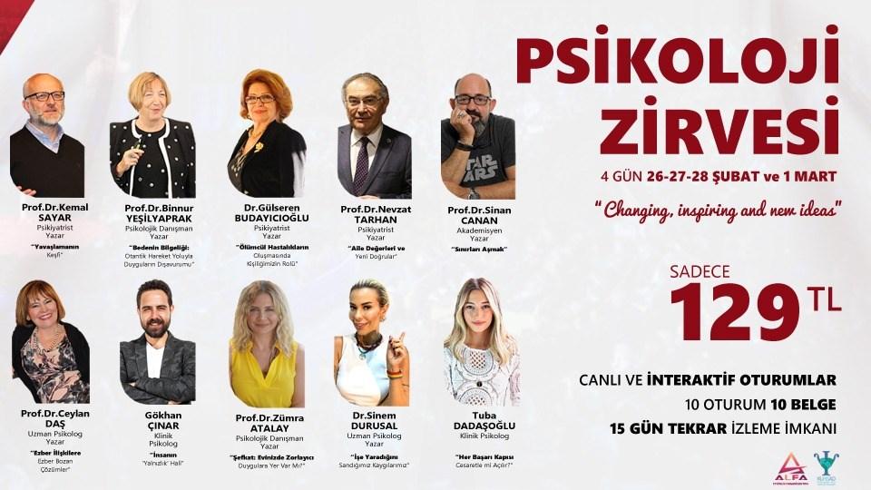 Online PSİKOLOJİ ZİRVESİ / 26-27-28 Şubat ve 1 Mart
