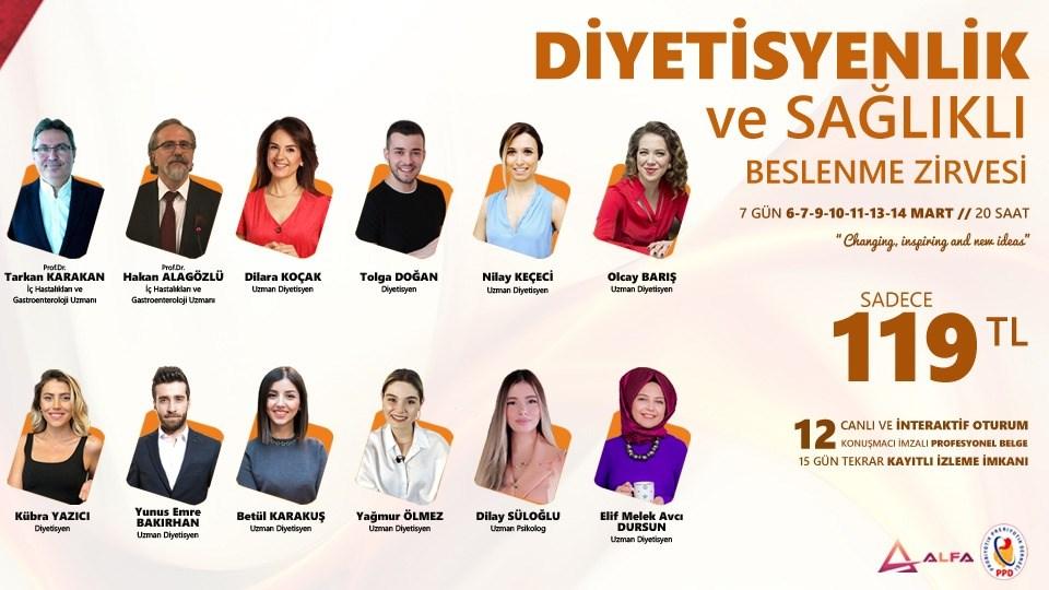 DİYETİSYENLİK ve SAĞLIKLI BESLENME ZİRVESİ / 6-7-9-10-11-13-14 Mart
