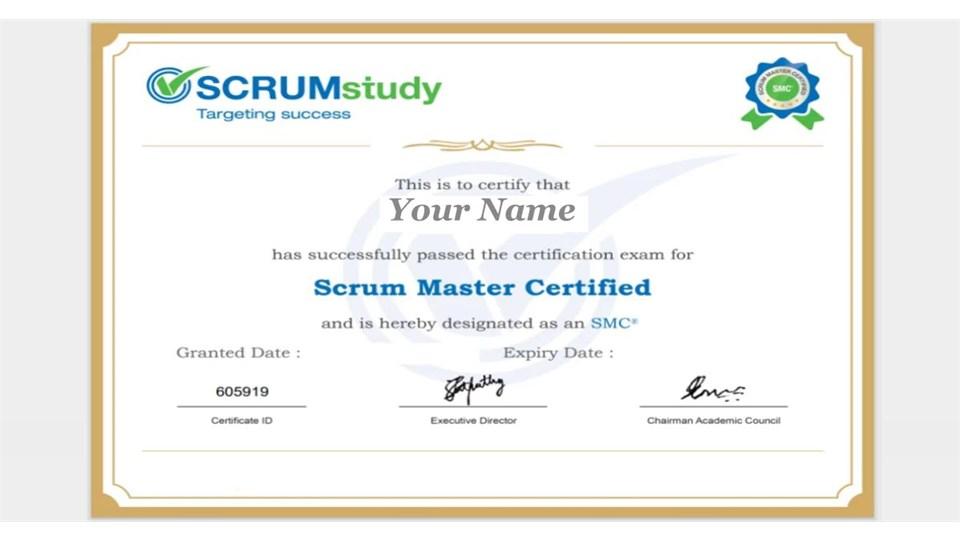 Scrum Master (SMC) Sertifika Programı + Scrum Fundamental Webinar + Online Eğitim + Online Sınav + Uluslararası Sertifikasyon