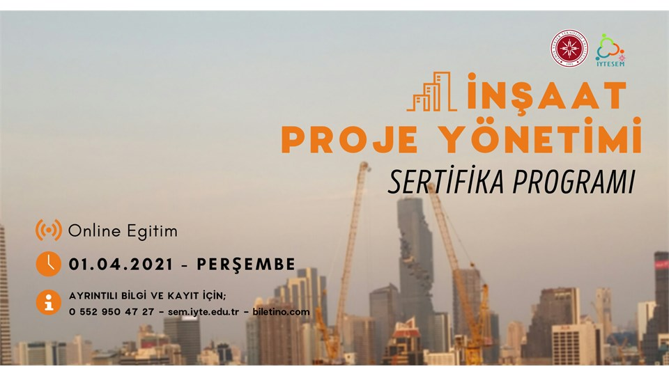 İnşaat Proje Yönetimi Sertifika Programı