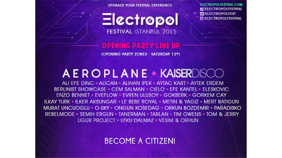 Electropol Festival Istanbul 2015 Opening Party