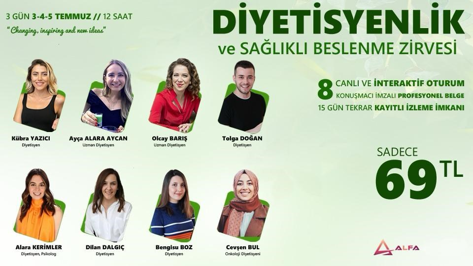 DİYETİSYENLİK ve SAĞLIKLI BESLENME ZİRVESİ / 3-4-5 Temmuz