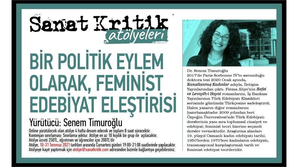 Sanat Kritik-Senem Timuroğlu-Bir Politik Eylem Olarak Feminist Edebiyat Eleştirisi