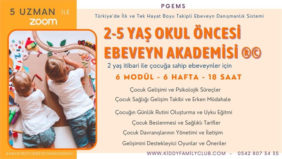 2-5 Yaş Okul Öncesi Ebeveyn Akademisi