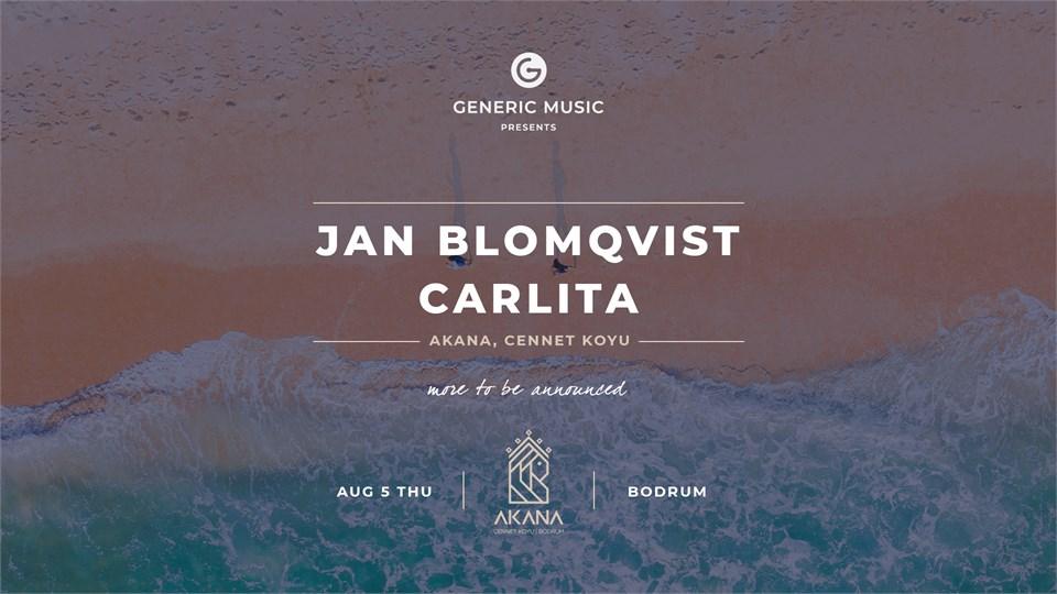 Generic Music presents: Jan Blomqvist & Carlita and many more