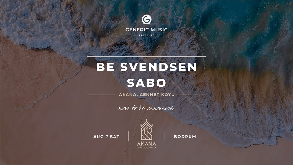 Generic Music presents: Be Svendsen & Sabo and many more