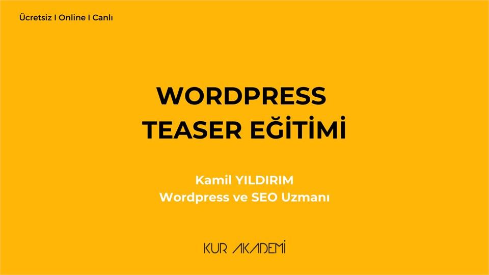 WordPress Teaser Eğitimi