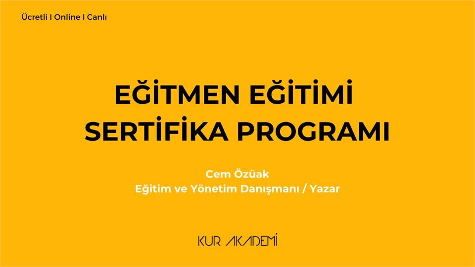 Eğitmen Eğitimi Sertifika Programı