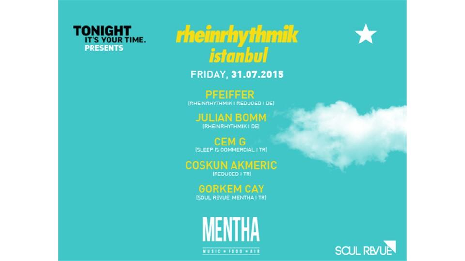 Tonight Presents: RHEINRHYTHMIK / Pfeiffer + Julian Bomm + Cem G + Coskun Akmeric + Görkem Çay