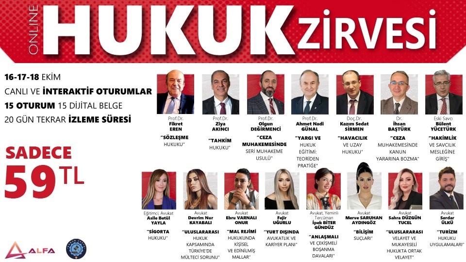 ONLINE HUKUK ZİRVESİ / 16-17-18 Ekim