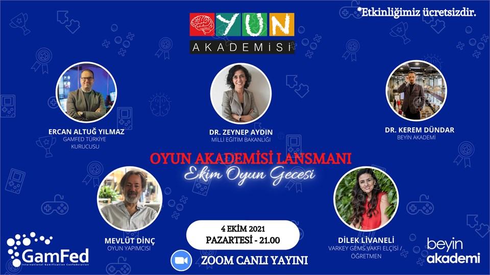 Oyun Akademisi Lansman - EKİM OYUN GECESI - Ücretsiz-Online