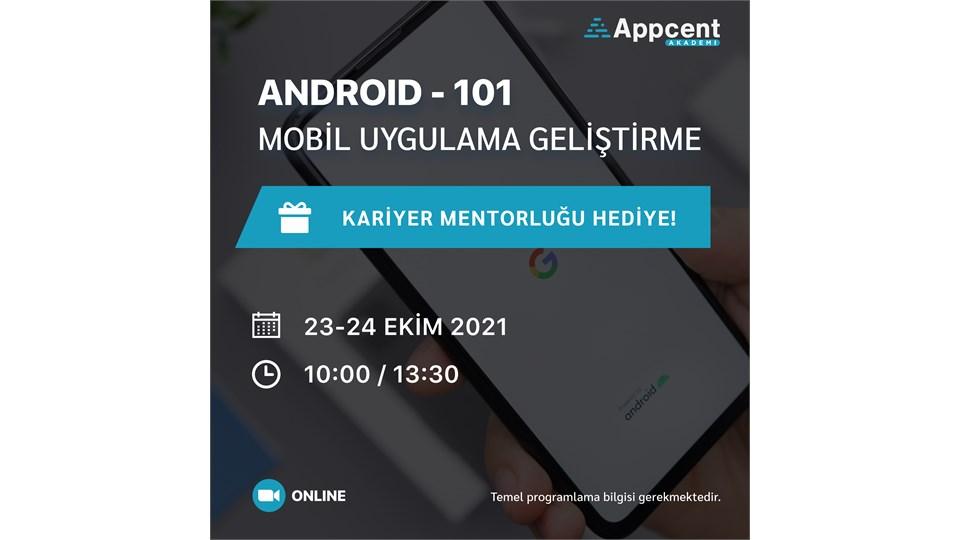Android 101 Mobil Uygulama Geliştirme