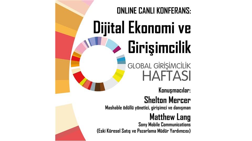 """İTÜ GİNOVA """"GGH Global Etkinlik"""":  Dijital Ekonomi ve Girişimcilik Online Konferansı"""