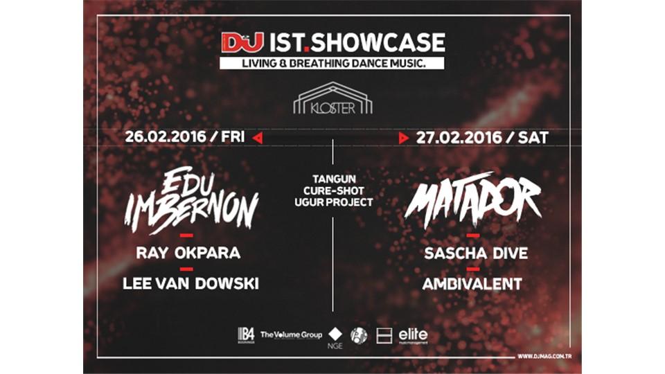DJ Mag IST Showcase : Matador, Edu Imbernon, Lee Van Dowski, Ray Okpara, Ambivalent, Sascha Dive