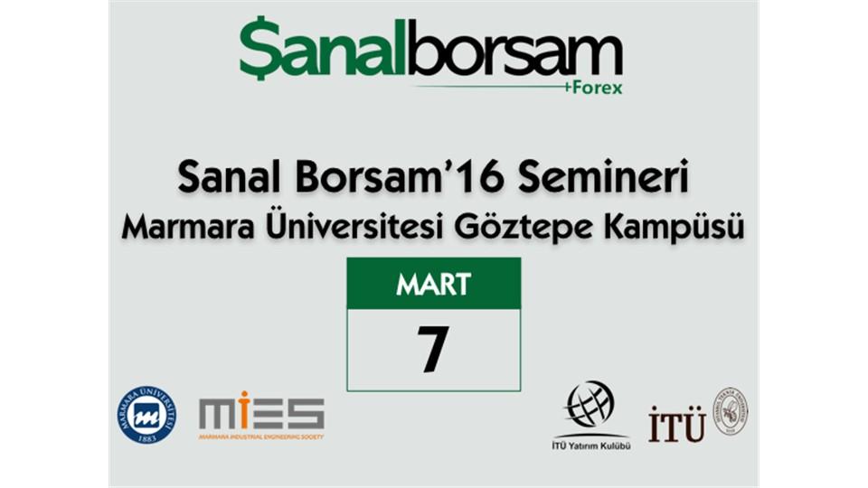 Sanal Borsam 2016 Semineri: Marmara Üniversitesi