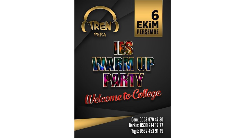 IES Warm Up Party - Tren Pera