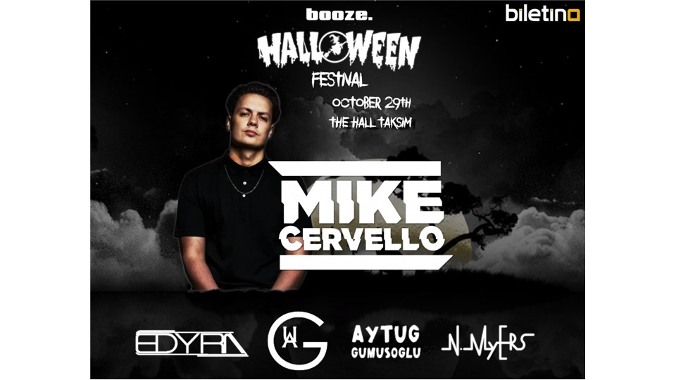 Booze. Presents: Halloween Festival w/ Mike Cervello