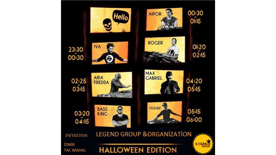 LEGEND HALLOWEN EDİTİON PARTY