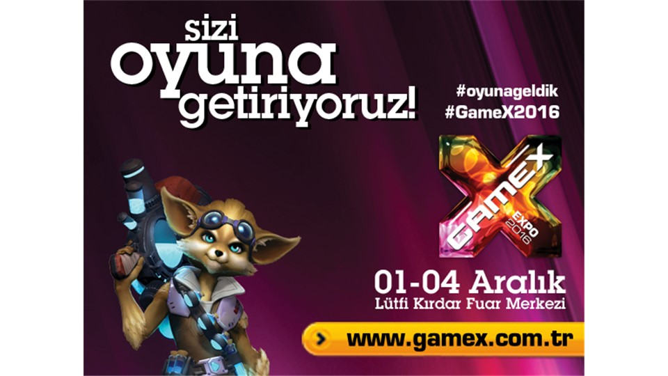 GameX 2016 Uluslararası Dijital Oyun Fuarı