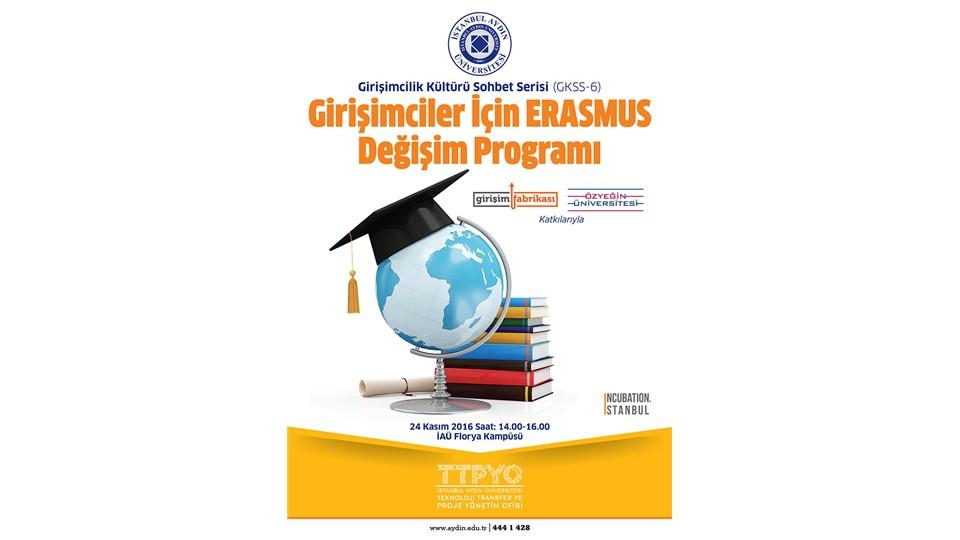 GKSS-6 Girişimciler için ERASMUS Değişim Programı