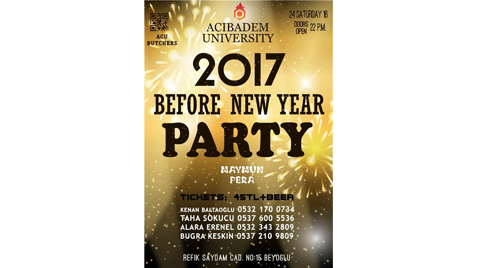 Acıbadem University Before New Year Party