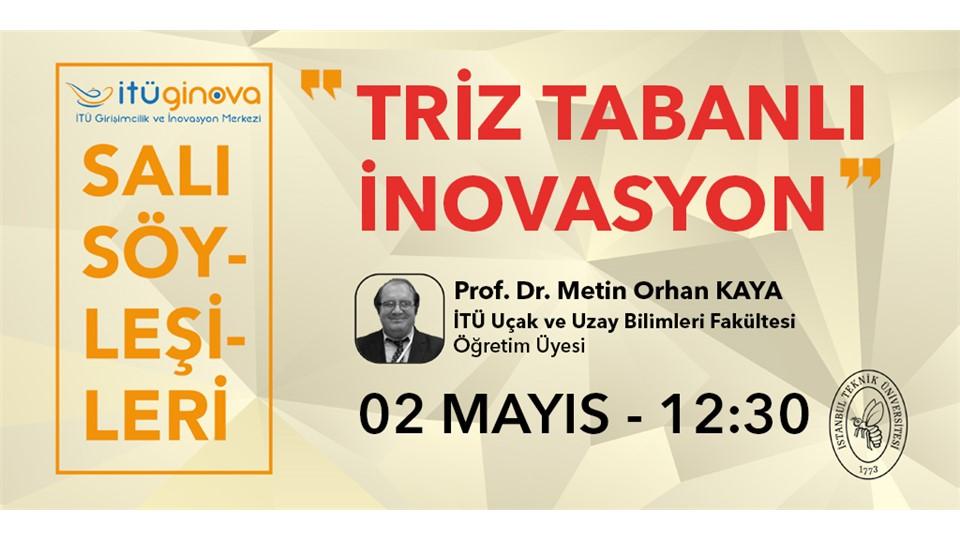 İTÜ GİNOVA Salı Söyleşisi: Prof. Dr. Metin Orhan Kaya - Triz Tabanlı İnovasyon