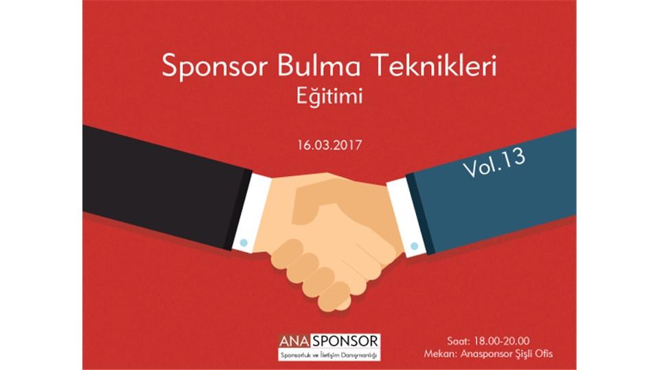 Sponsor Bulma Teknikleri Eğitimi Vol.13