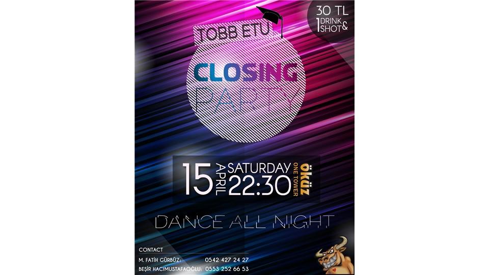 TOBB ETÜ Closing Party